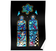Stained glass  ~ psaume 8 Poster