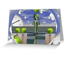 Time vortex with apples  Greeting Card