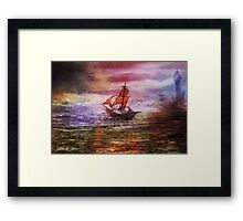 Against the fall of night Framed Print