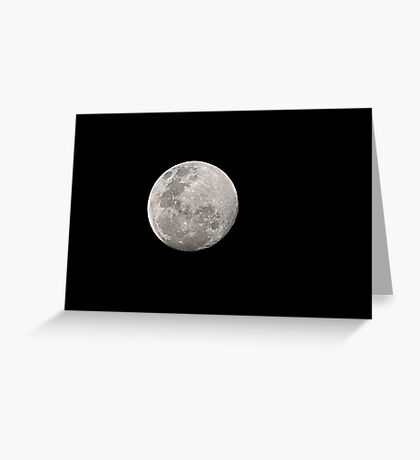 The Moon 28.08.2015 about 7pm Greeting Card