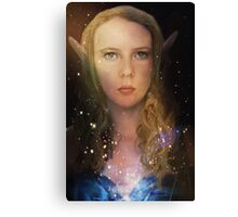 Elven Galaxy Fey Profile Canvas Print