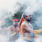 Indigenous Dancers during smoking ceremony by Jaxybelle