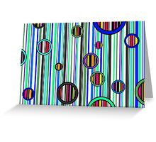 Colorful abstract stripes Greeting Card