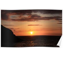 Cwmtydu Sunset Poster