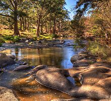 A River Runs Through It - The Fly , Near Oberon, NSW Australia - The HDR Experience by Philip Johnson