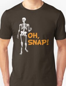 Oh, Snap! Funny Broken Leg Skeleton T-Shirt
