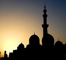 mosque silhouette by Baha Mosa