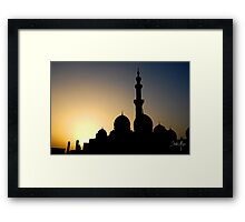 mosque silhouette Framed Print