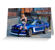 Mustang Amber Greeting Card