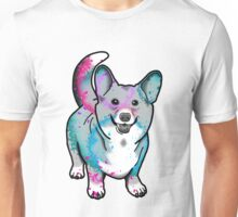 Corgi in Watercolor Splash Unisex T-Shirt