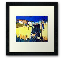 Approach To Town Framed Print