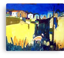 Approach To Town Canvas Print