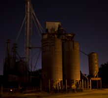 Old Silos by the river by aintmypants