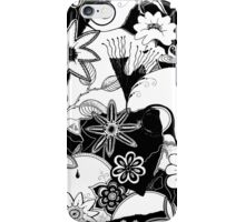 Tangled Collage 4 - Collaged Monoprints With Tangling White Background iPhone Case/Skin