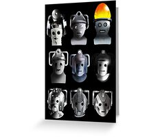 Cyberman Evolution Greeting Card