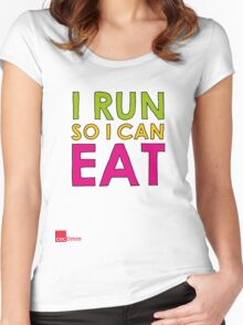 I Run So I Can Eat Women's Fitted Scoop T-Shirt