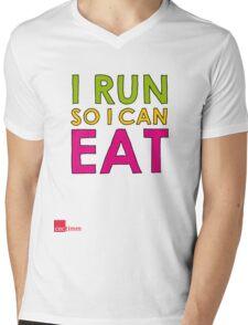 I Run So I Can Eat Mens V-Neck T-Shirt