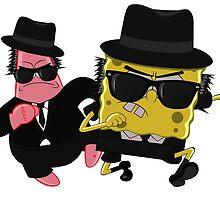 Blues Brothers meets Spongebob and Patrick by bebe-gun