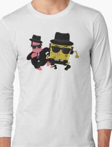 Blues Brothers meets Spongebob and Patrick Long Sleeve T-Shirt