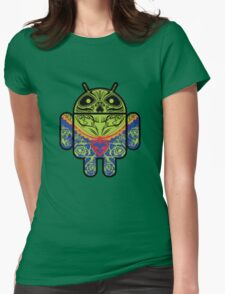 Dia de los Android Muertos Womens Fitted T-Shirt