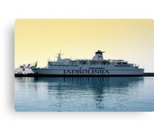 Marko Polo ship, Croatia Canvas Print