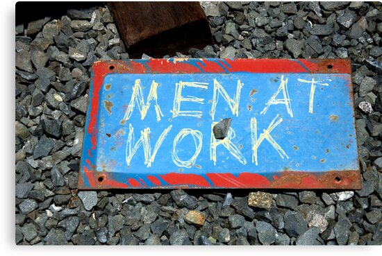 Men At Work by Bob Wall