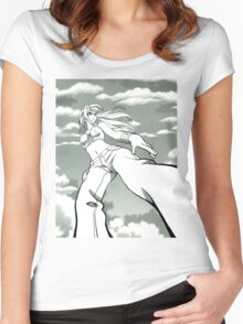 Sexy manga girl Women's Fitted Scoop T-Shirt