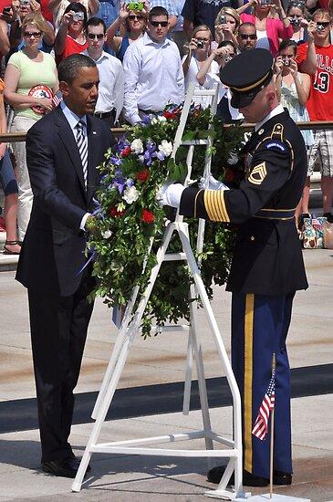 President Obama at Arlington National Cemetary by Matsumoto