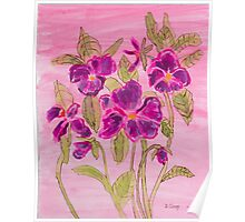 pansies patch Poster