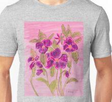 pansies patch Unisex T-Shirt