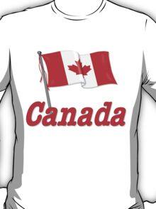 Canada Waving Flag T-Shirt