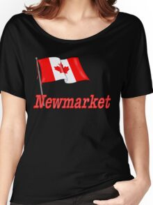 Canada Waving Flag - Newmarket Women's Relaxed Fit T-Shirt