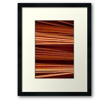 Brush bristle Framed Print