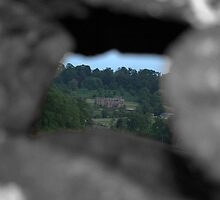 mansion through a cotswold wall by yampy