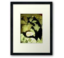 Tommy Asleep Framed Print