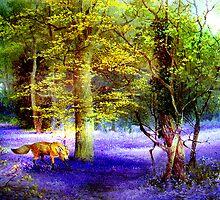 Bluebell Fox by Angela  Burman