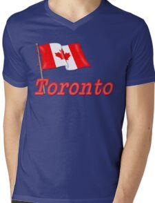 Canada Waving Flag - Toronto Mens V-Neck T-Shirt