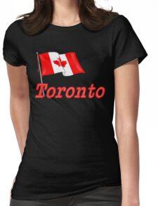 Canada Waving Flag - Toronto Womens Fitted T-Shirt