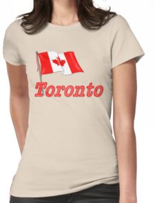 Canada Waving Flag - Toronto Womens Fitted T-Shirt