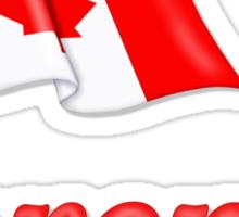Canada Waving Flag - Toronto Sticker