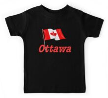 Canada Waving Flag - Ottawa Kids Tee