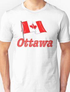 Canada Waving Flag - Ottawa T-Shirt