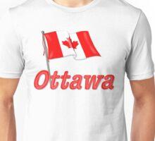Canada Waving Flag - Ottawa Unisex T-Shirt