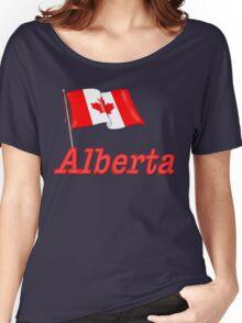 Canada Waving Flag - Alberta Women's Relaxed Fit T-Shirt