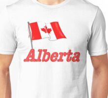 Canada Waving Flag - Alberta Unisex T-Shirt