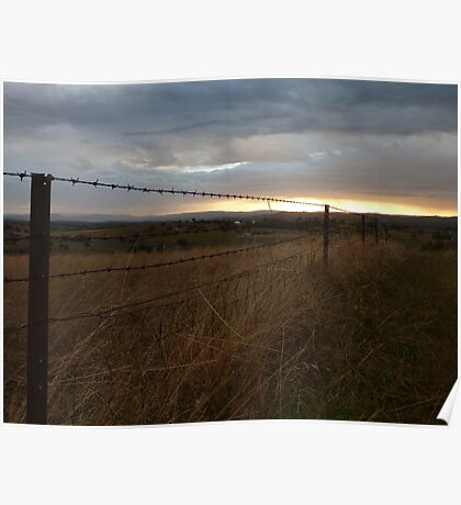 Rural sunrise, Blue Jacket Lookout, Canowindra Poster