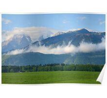 Kamnik Alps and Krvavec ski resort Poster