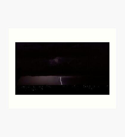 Dawn lightning #1 Art Print