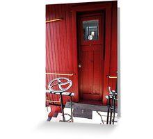 Caboose Door Greeting Card