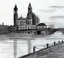 200 - CHURCH OF Sts. PETER & PAUL, ATHLONE - DAVE EDWARDS - PENCIL - 1994 by BLYTHART